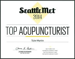 Seattle Met Top Acupuncturist 2014